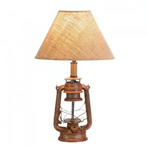 Accent Plus VINTAGE CAMPING LANTERN TABLE LAMP
