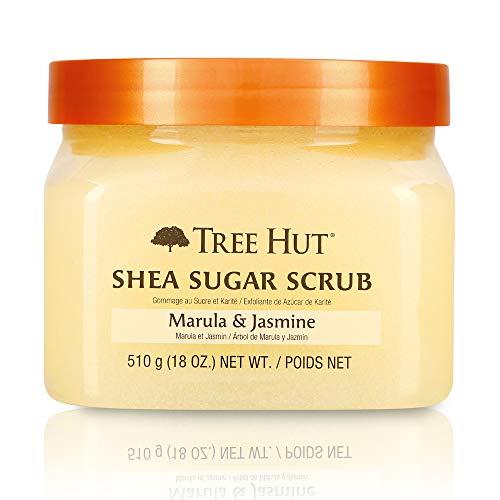 Tree Hut Shea Sugar Scrub Marula & Jasmine, 18oz, Ultra Hydrating and Exfoliating Scrub for Nourishing Essential Body Care (Pack of 3)