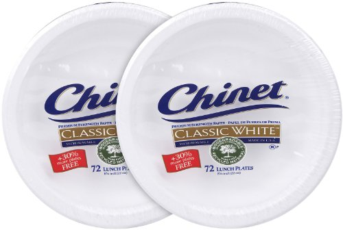 Chinet Classic White Lunch Plate - 8.75 in - 72 ct - 2 pk