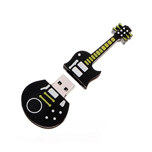 32GB Cute Black Guitar Style USB 2.0 Flash Stick Memory Pen Thumb - 2