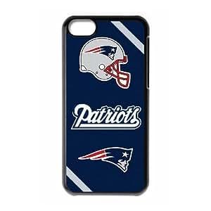 GGMMXO New England Patriots Phone Case For Iphone 5C [Pattern-1]