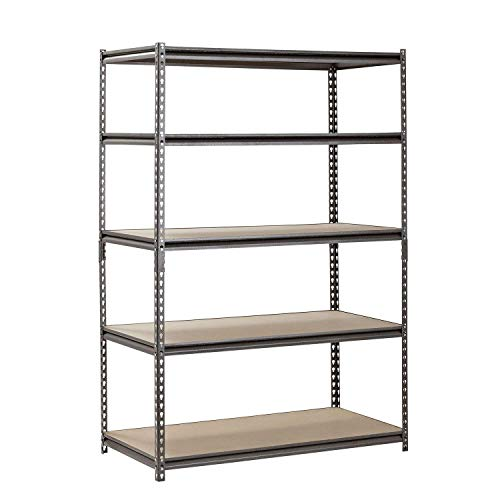 EDSAL Heavy Duty Garage Shelf Steel Metal Storage 5 Level Adjustable Shelves Unit 72