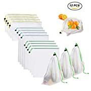 LightningDeal 95% claimed  Yomitek Set of 12 Reusable Produce Bags a73bc2e4bfed4