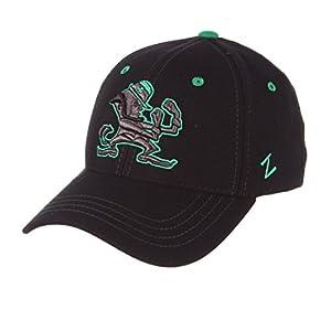 9dceedfa12e65 Zephyr Men s Notre Dame Fighting Irish Element II Black Adjustable Hat