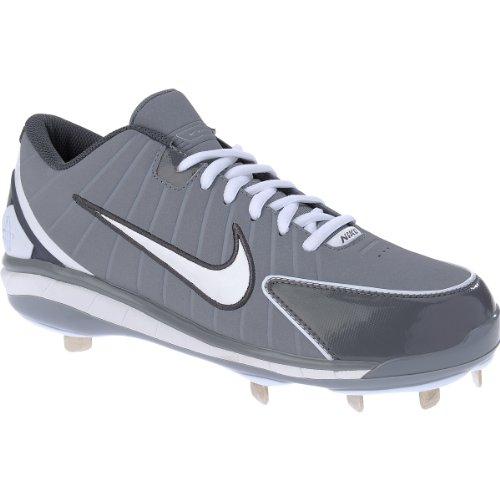 Nike Huarache 2k4 Low Metal Studs Gray/White Baseball Men's Shoes (8.5)