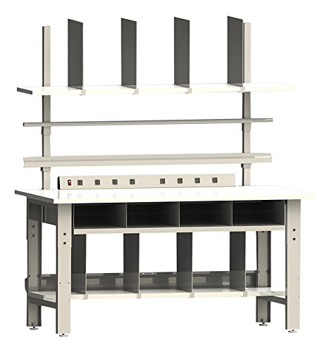 Roosevelt Series Premium Packaging Bench Set With Formica Laminate Top And Round Front Edge, 30