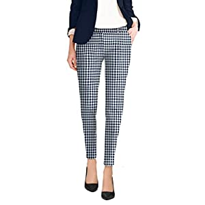 HyBrid & Company Womens Super Comfy Flat Front Stretch Trousers Pants 23
