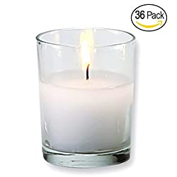 Royal Imports Votive Candles Bulk Set of 36 with W