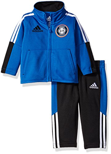 adidas Baby Boys' Tricot Jacket and Pant Set, Blue, 9 (Adidas Tricot Logo Jacket)