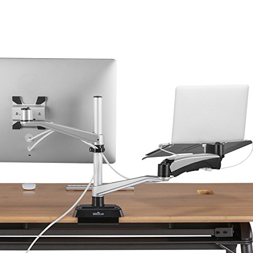 VARIDESK - Monitor Mount with Laptop Cradle by VARIDESK