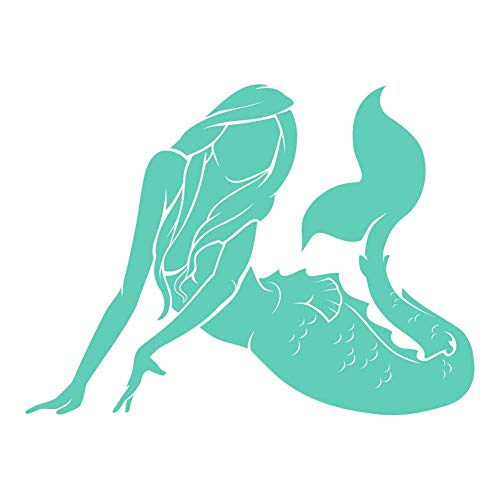 - Sensual Mermaid 9 inch Mint Indoor Outdoor Vinyl Decal