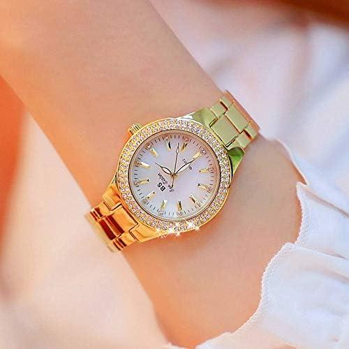 YGMOTO SVA AYSMG FA1258 Montre à Bracelet en Alliage de Diamants for Femme (Or Jaune) (Color : Gold) Gold