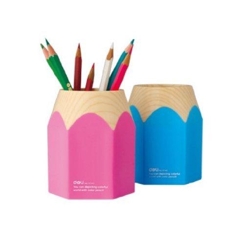 Wisedeal Creative Pencil Tip Design Pen Holder Blue