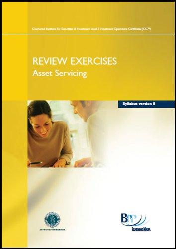 Download Iaq - Asset Servicing Syllabus Version 8: Review Exercise PDF