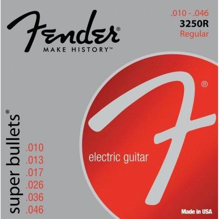 Fender 3250 R 10-46 Bullet End, Electric Guitar Stings Bullet Electric Guitar