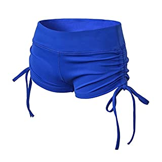 TYUIO Womens Mini Tennis Exercise Gym Lounge Cotton Sweat Shorts Blue Large