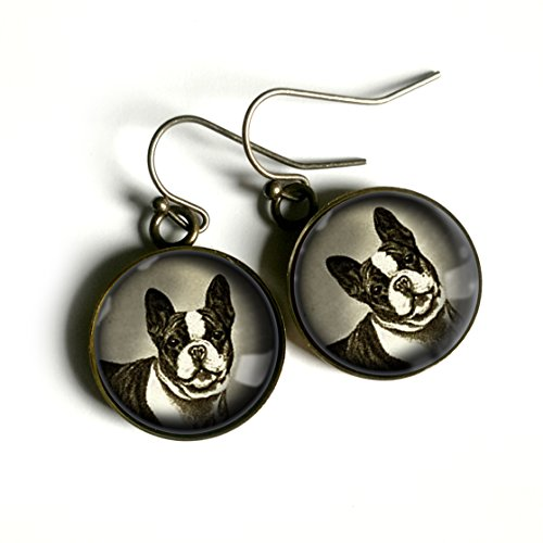 French Bulldog or Boston Terrier Earrings