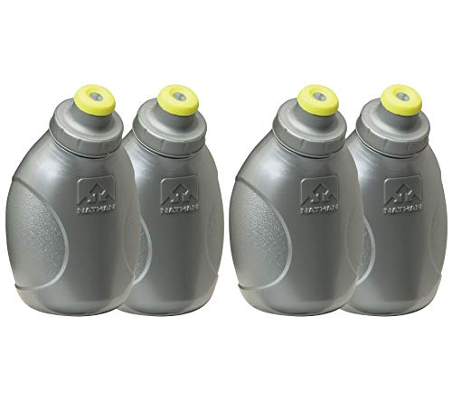 Nathan Replacement Flasks with 10-Ounce Push-Pull Caps, Silver (Тwo Рack)