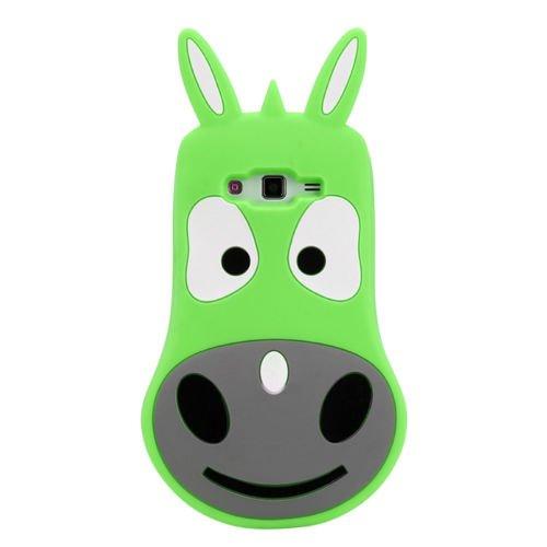 "BACK CASE 3D Esel / Tiere grün für Apple iPhone 6 4,7"" Hülle Cover Case Schutzhülle Tasche"
