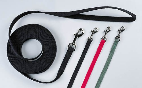 Red 50' Red 50' OmniPet Cotton Dog Training Lead for Dogs, 50', Red
