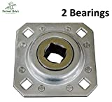 2 of Disc Harrow Bearing 1' Square Bore w/ 4-1/2' Bolt Holes & 4-3/4' OAL Farmer Bob's Parts ST208-1