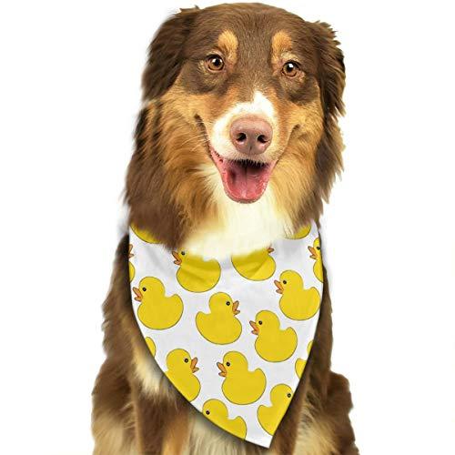 Jadetian Random Rubber Duckies Dog Bandana - Washable Triangle Bibs Personalized Pet Scarfs Accessories Pet Birthday Gift Decorations