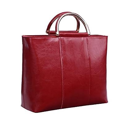 Missmay Vintage Women's Genuine Leather Purse Luggage Shoulder Bag Handbag Big Satchel Tote