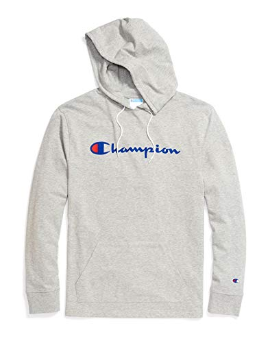 Champion Men's Heavyweight Jersey Hoodie Oxford Grey X-Large
