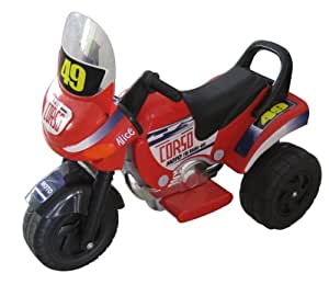 Merske Mini Racer Battery Operated Kids Motorcycle, Red