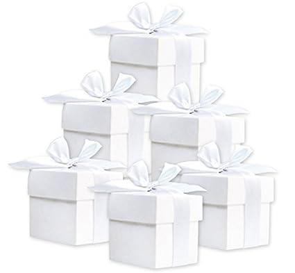 Cajas de regalo dulces, color blanco, regalos para invitados de boda, bautizo,