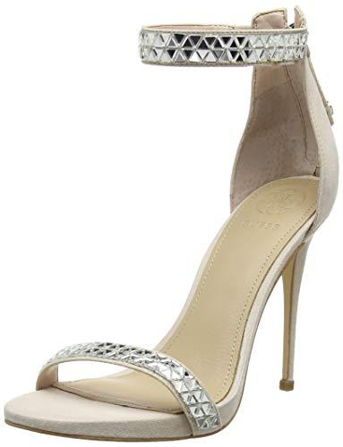 b8c62d012e2 Con sandal Thadde Para Mujer Y Correa Tobillo Rosa Guess light fabric  Zapatos Tacon De Blush Pink xISw5n1qU