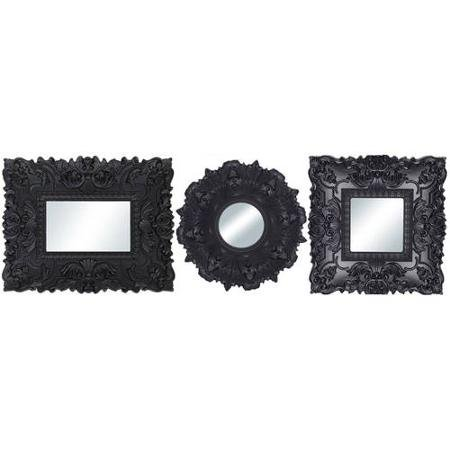 Baroque Florence Wall Mirrors, Set of 3, Black from Better Homes & Gardens