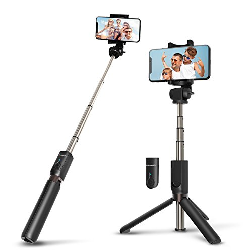 Selfie Stick Bluetooth, BlitzWolf Extendable Selfie Stick Tripod with Wireless Remote for iPhone X/iPhone 8/8 Plus/iPhone 7/7 Plus/iPhone 6 Plus, Galaxy S9/S9 Plus/S8/S8 Plus/S7/Note 8, Huawei, More by BlitzWolf