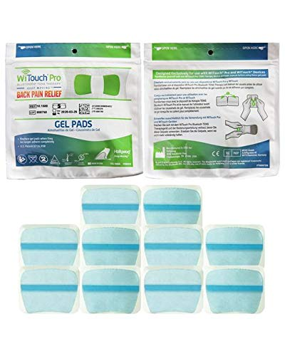Contains 5 Refill Pads - WiTouch Pro and Aleve Direct Therapy TENS Gel Pad Refills - 1 Pack of 10 Pads