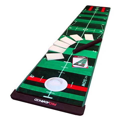 ProAdvanced ProInfinity Putting Mat - 4 Speed Golf Green Simulater - Special Package -for Family - for Children - for Party