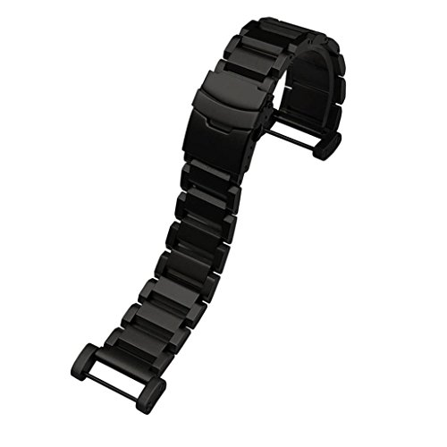 Stainless Steel Quick Release Watch Band Strap+ Lugs Adapters for Suunto Core Watch,Black (Wristop Computer Sport Watch)