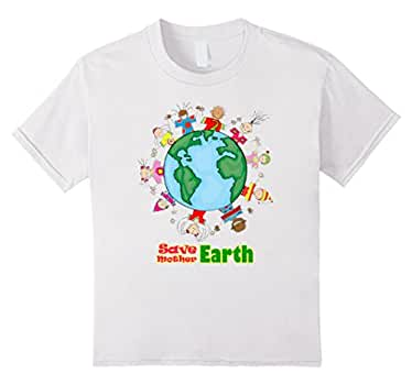 Kids Earth Day t-Shirt - Save Mother Earth 4 White