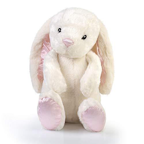 Bunny Stuffed Animal: Rabbit Plush Toy, Floppy Long Eared White Brynn Rabbit by Weupe, 17 -