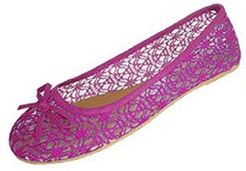 Scarpe 18 Scarpe Basse Da Donna Con Scollo Alluncinetto Con Sottostrato Trasparente In Mesh 5060a Fushia