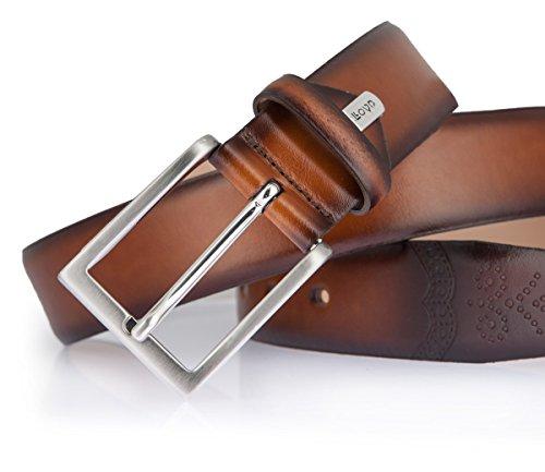 LLOYD Gürtel Herrengürtel Ledergürtel Herrenledergürtel Cognac, Länge 110  cm Farbe Braun  Amazon.de  Bekleidung c777ee383a