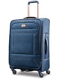 Belle Voyage Softside Luggage with Spinner Wheels, Blue Denim