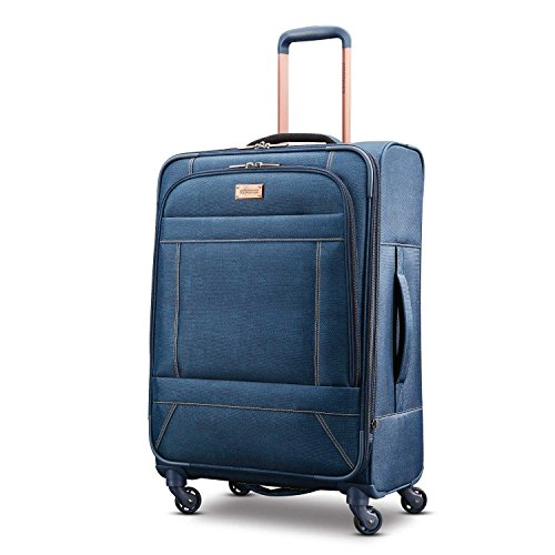 American Tourister Belle Voyage Softside Luggage, Blue Denim, Checked-Medium American Tourister Ilite Luggage