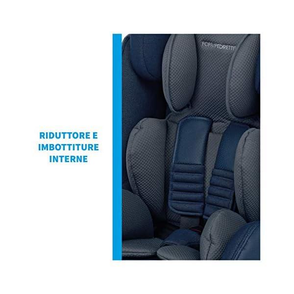 Foppapedretti Isodinamyk Seggiolino Auto ISOFIX, Gruppo 1/2/3 (9-36kg), per Bambini da 9 Mesi Fino a 12 Anni, Nero… 6