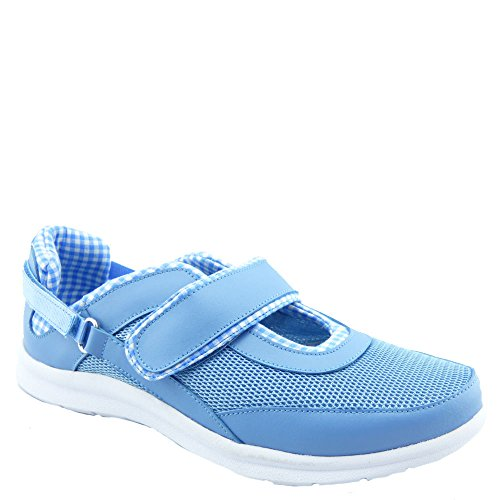 Bellini Women's Fun Athleisure Mary Jane,Light Blue Leather/Mesh,US 9.5 M (Drew Leather Mary Janes)