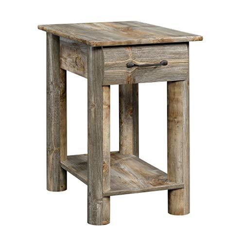 Sauder 424607 Boone Mountain Side Table, Rustic Cedar Finish (Rustic Furnishings Mountain)