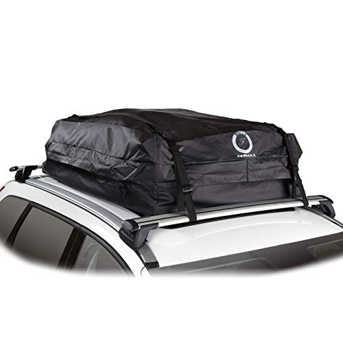 - Fedmax Car Rooftop Carrier | Waterproof | Lock Included | Roof Top Luggage Bag (20CFT - Use with Racks)