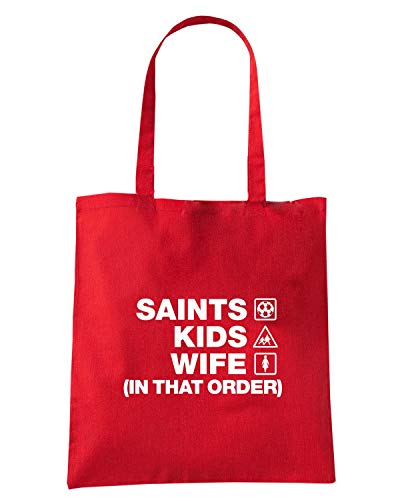 SOUTHAMPTON ORDER Speed WC1486 Shirt SAINTS Shopper Rossa WIFE KIDS Borsa POfwnCPWxq