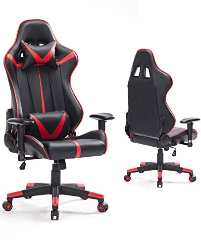 Top Gamer Gaming Chair PC Computer Game Chairs for Video Game (Red/Black,92)