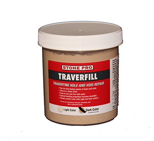 Polyester Epoxy Resin (Stone Pro Traverfill - Travertine Hole and Void Repair - 1 Pound - Dark)