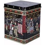Black Jap Classic Tea Caddy Tin - 8oz - Height 11cm